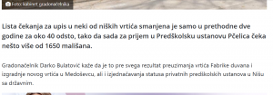 Foto:Printscreen Niške vesti- izjava u tekstu